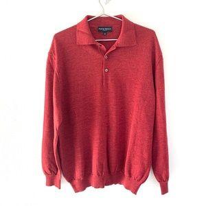 🔥Merino Wool Polo Sweater Men XL Ponte Vecchio